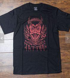 krampus devil tattoo t-short