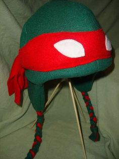 ninja turtle hat :)  Would be better than face paint