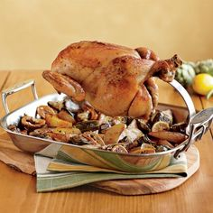 The All-Clad Clever piece of kit Ultimate Chicken Roaster on Williams-Sonoma.com...