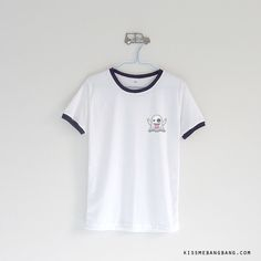 ghost emoji_Ringer Tee_White $14