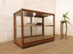 Glass Case U935◆レトロな古い木枠ガラスケース◆店舗什器 アンティーク インテリア 雑貨 家具 Antique ¥19800yen 〆11月26日