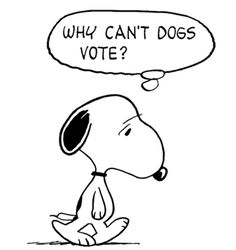 Snoopy Would Have Liked to Vote in the Election (smaller)