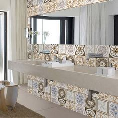 25Pcs Self Adhesive Bohemia Simulation Ceramic Tiles DIY Kitchen Bathroom Wall Decal Stickers Decor