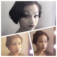 1930s Hair and Makeup practice results.