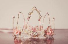 Flower Crown Blush Crown Fairy Crown by LittleLadyAccessory