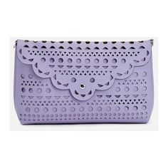Justfab Clutches Ellis (1.425 RUB) ❤ liked on Polyvore featuring bags, handbags, purple, flap purse, crossbody bags, purple crossbody purse, perforated handbags and flap handbags