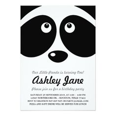 Panda Birthday Party Invitation