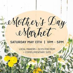 Come join us at @thepapercraftpantry on Saturday, May 13th for a fun-filled Mother's Day Market full of shopping, creating, and sipping! We'll be there alongside many other amazing local vendors, and you will surely find (or create!) the perfect gift for your sweet mom. Link in bio to RSVP! (P.S. it's FREE! 🙌🏼) #slownorth
