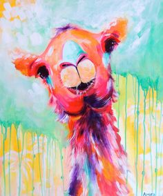 Canvas print from original Clarence camel painting. Professionally printed with UV/Fade-proof ink on exterior strength canvas with no-fade inks.
