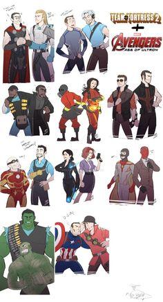 AvengersAOU:TF2 crossover by DarkLitria on DeviantArt