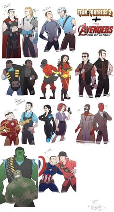 AvengersAOU:TF2 crossover by DarkLitria on DeviantArt