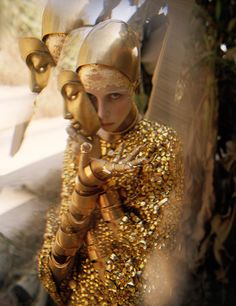 wmagazine:  The golden touch Photograph by Tim Walker; styled by Jacob K; W magazine May 2014.