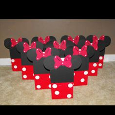 minnie party favour bags