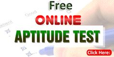 free online aptitude test questions with answers