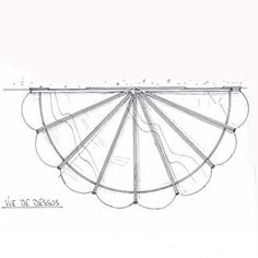 "WROUGH IRON CANOPY ""COQUILLAGE"" reference MA 80 