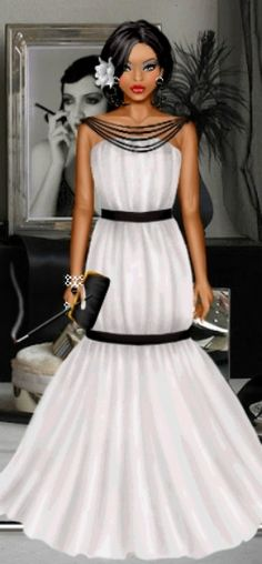 Well done to today's Doll of the Day, sista! This #dress is #beautiful and…