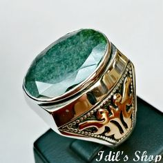 Men's Ring Turkish Ottoman Style Jewelry 925 Sterling by IdilsShop, $150.00