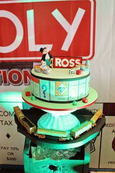 Ross' Monopoly Themed Party – Birthday Cake
