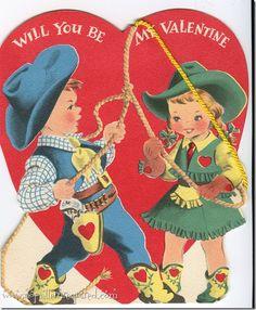 Vintage Western Valentines on the Blog