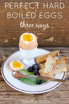 Follow these simple directions for perfect eggs...hard boiled, soft boiled, and roasted!