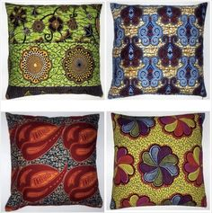 African Batik Pillows