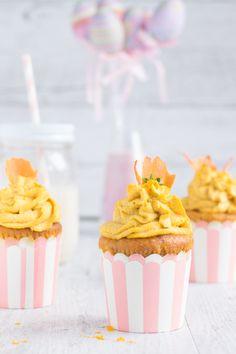 Vegan Cupcakes alle Carote con Yogurt e Zenzero Fresco