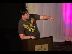 "Alpha Brony asks the panel questions during the ""@Ponycon"" Game Show. Ponycon 2016 Brooklyn NY"
