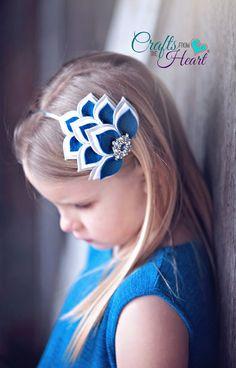 Items similar to Felt Headbands - Navy Blue Gray White - Layered Felt Headband - Felt Flower Headband - Headbands - Girls Headbands - Headbands for Girls on Etsy Felt Headband, Ribbon Headbands, Metal Headbands, Feather Headband, Ribbon Hair Bows, Diy Hair Bows, Bow Hair Clips, Baby Headbands, Flower Headbands