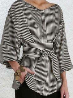 Skirt Fashion, Fashion Outfits, Womens Fashion, New Fashion Tops, Fashion Blouses, Fashion Black, Trendy Fashion, Fashion Ideas, Mode Outfits