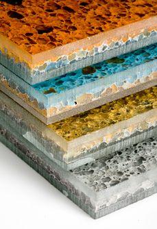 ALUFoam - Aluminum foam laminated between glass