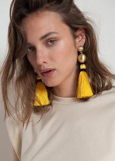 Brushed Gold Tassle Earrings– The Frankie Shop