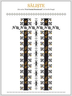 Hungarian Embroidery, Folk Embroidery, Embroidery Patterns, Knitting Patterns, Cross Stitch Borders, Cross Stitching, Cross Stitch Patterns, Traditional House, Beading Patterns