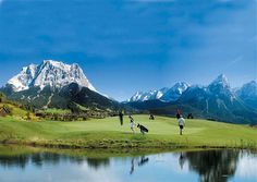 Looking forward to climbing the Zugspite, Germany's highest peak this summer. Golf course