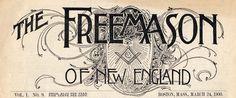 The Freemason of New England magazine cover