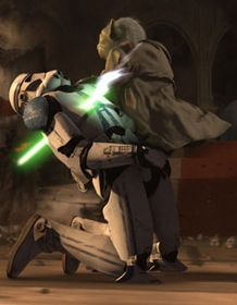 Image result for Yoda takes on clone troopers
