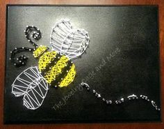 Sweet as a Bee, bee String Art, Queen bee wall art, Nursery room Decorations, baby shower, nature art, vintage wall art, kids room ideas