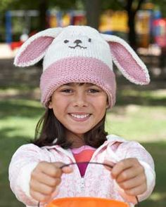 adorable knit bunny hat, cute for easter time
