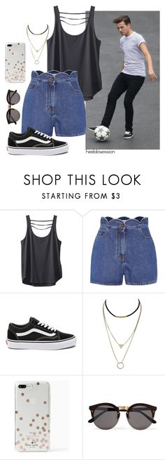 """Impromptu Football/Soccer (Louis Tomlinson #1)"" by heelobsession ❤ liked on Polyvore featuring Kavu, Valentino, Vans, Kate Spade and Illesteva"