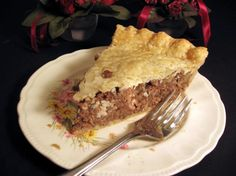 Alice s French Canadian Meat Pie - Tourtiere from Food.com:   This is my mother's recipe that she got from her mother, who was born in Montreal Canada. We have had these pies every Christmas since I was a little kid. It would not be Christmas in our family without mom's tourtieres! Thanks mom for the recipe and all the wonderful holidays you gave us over the years!
