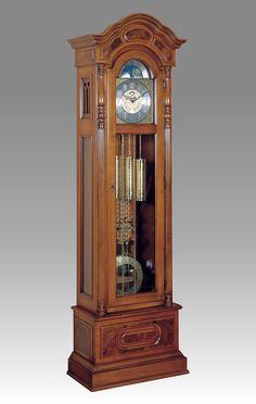 Curio Grandfather clock walnut with drawers Clock Art, Clock Decor, Wood Clocks, Antique Clocks, Classic Furniture, Antique Furniture, Brown Clocks, Grandmother Clock, Farmhouse Clocks