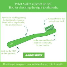 Finding the right toothbrush will help you brush better! #DeltaDental