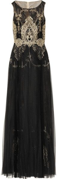 Notte By Marchesa Embroidered Organza and Tulle Gown www.finditforweddings.com evening wear