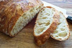 No-Knead Bread — Pixels + Crumbs Knead Bread Recipe, No Knead Bread, Special Bread Recipe, Honey Oat Bread, Bread Recipes, Cooking Recipes, No Rise Bread, Kolaci I Torte, Salty Foods