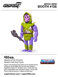 """Leading indie toy retailer/producer Super7 reveal their NYCC '16 sofubi line-up in-full Products available at the Super7 NYCC '16 booth (#126) from Thursday, October 6th: """"Maroon …"""
