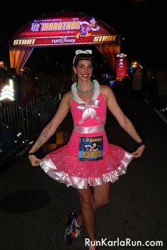 Cinderella's pink dress at the Walt Disney World Half Marathon