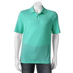Big & Tall Croft & Barrow® Signature Classic-Fit Pocket Polo, Men's, Size: Xl Tall, Turquoise/Blue (Turq/Aqua)