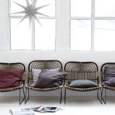 Fauteuil vintage rotin de chez House Doctor - Midiune - Mobilier industriel et vintage - Sélection