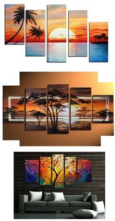 Landscape Painting, Extra large hand painted art paintings for home decoration. Large wall art, canvas painting for bedroom, dining room and living room, buy art online. Canvas Painting Landscape, Hand Painting Art, Large Painting, Online Painting, 5 Piece Canvas Art, Large Canvas Art, Canvas Wall Art, Multiple Canvas Paintings, Art Paintings For Sale