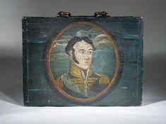"""IMPORTANT PERIOD AMERICAN FOLK ART PAINTED BOX"" (ca. 1820) > Folk Art"