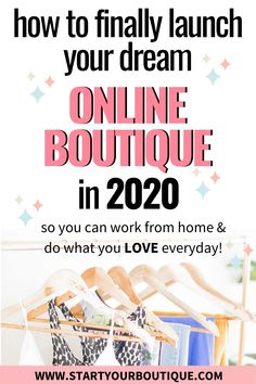 Want to start an online boutique? Enter your name and email address to join this free masterclass. You;ll get my 4 step process to starting an online boutique business even if you have ZERO experience!
